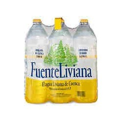 Agua Fuente Liviana 1,5 litros pet (pack 6 botellas)