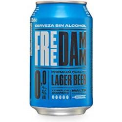 Cerveza Free Damm 0,0% lata 33c.