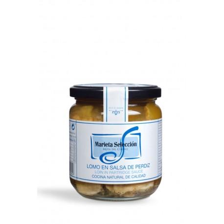 Lomo en salsa de perdiz loncheado Marieta 350grs