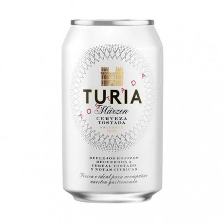 Cerveza Turia tostada lata 33cl
