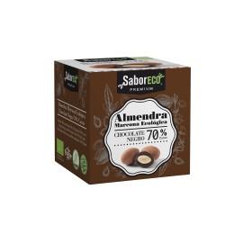 ALMENDRA CON CHOCOLATE NEGRO 70% BIO SaborECO 80gr